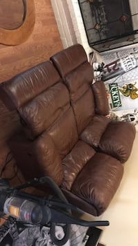 Leather couch obo Aurora, 80013