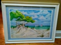 White Decorative Framed/Matted Ocean w/ Sailboats Wilmington, 28411