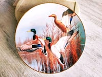 23k Altin Yaldızlı Collector Plates. Ducks... Camili, 54290