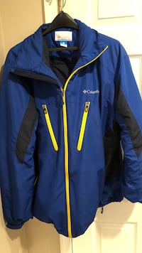 Male XL - Blue and yellow Columbia zip-up jacket Alexandria, 22310