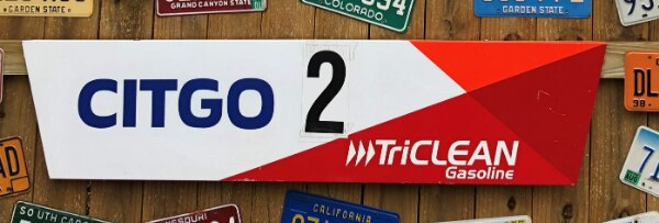 Citgo Triclean Gasoline Metal Sign (Pump #2) 5' Long Authentic Gas Station  Item
