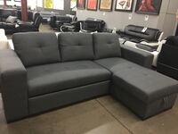 Sectional with pull out bed and storage under the Chaise. Brand new. 1168 mi