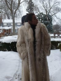 White Linx full length Fur Coat  Toronto