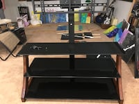black wooden TV stand with mount Tukwila, 98188