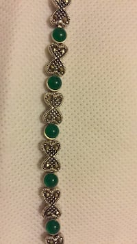 silver and green beaded bracelet Bethesda, 20817