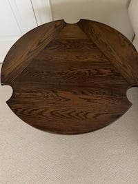 Side folding end table