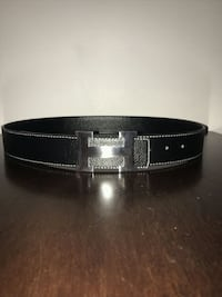 100% authentic black and silver Hermes belt size:  Toronto, M4C