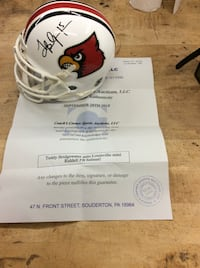 Teddy bridgewater auto Louisville mini Riddell helmet with COA.  Baltimore, 21205