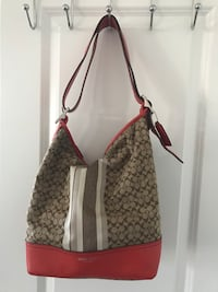 Authentic Coach purse- leather and canvas. Vaughan, L4H