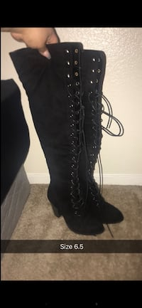 Thigh High Lace Up Boots Oakland, 94621