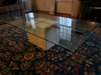 Marble and Glass Coffee Table Centreville