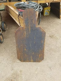 rusted brown and black metal board