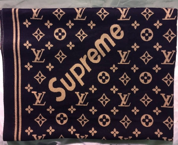 Шарф louis vuitton supreme