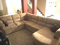 tufted gray sectional couch and ottoman El Monte, 91731