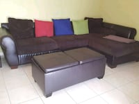 brown and black sectional couch West Palm Beach