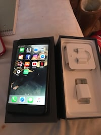 Space gray iphone 8 + with box