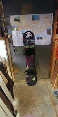 black and red snowboard with bindings Dartmouth, B2W 2C3