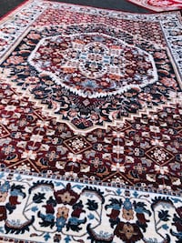 NEW Silk rug Large size 9x13 Nice red carpet Persian Kashaan design  Burke, 22015