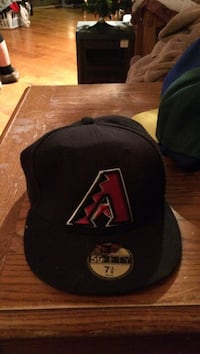 black and red A embroidered New Era 59fifty Winnipeg, R2M 3M8