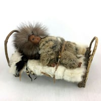 Native American Doll In Real Fur Outfit & Handmade Fort Erie, L2A 1M3