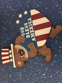 4th of july themed bear wall-mount decor Ashburn