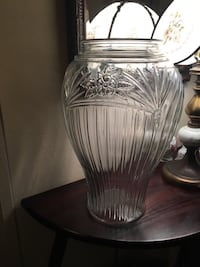 Clear Glass Floor Vase Bear, 19701