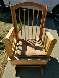 brown wooden rocking chair with white pad Suisun City