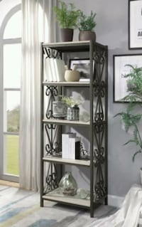Brand new Fairhope Faux Marble Top Side Pier & Bookcase