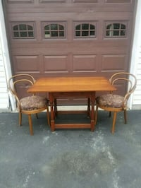 Antique Tavern Table and Bentwood Arm Chairs Slatington, 18080
