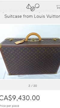 brown and black Louis Vuitton leather bag Waterloo, N2T