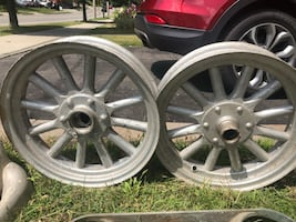 Antique Rims w/ Wooden Spokes