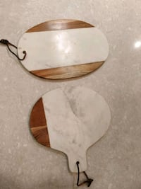 Marble and wood serving board Mississauga