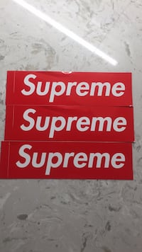 red and white Supreme signage Los Angeles, 91605