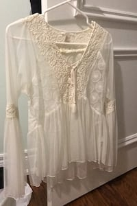 Sheer white blouse Toronto, M6B 3K4