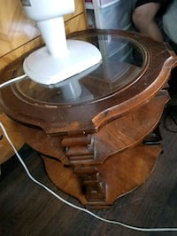 Round Wood Table Toronto, M5M 1S7