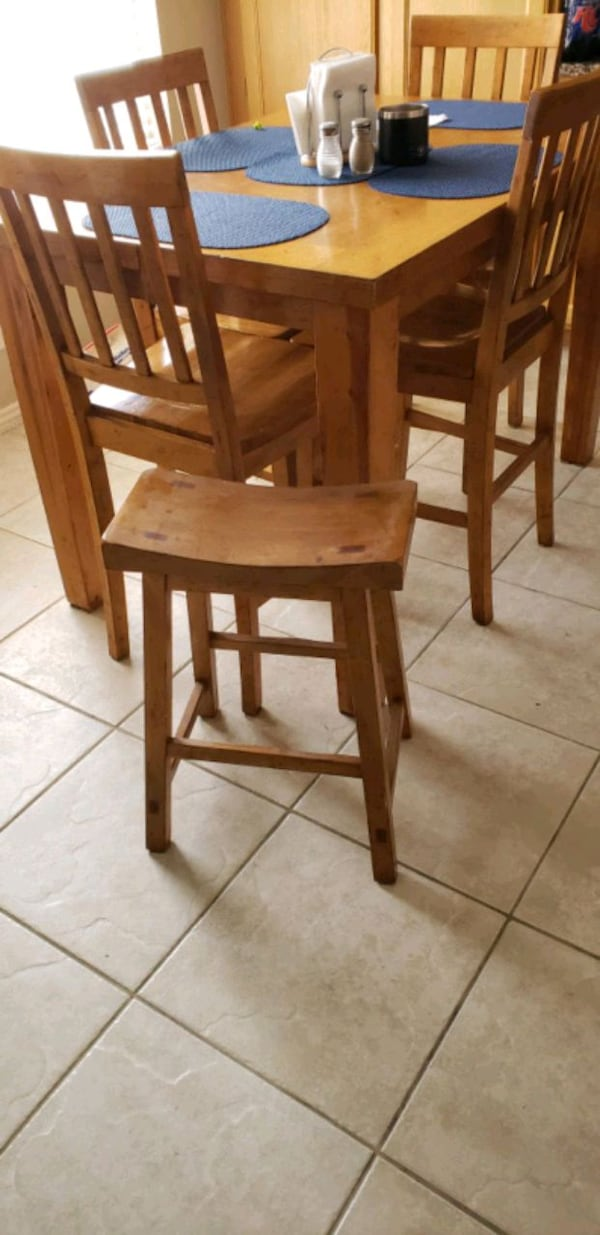 Sold Ranch Style High Kitchen Table In