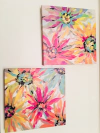 pink and green flower painting Surrey, V4P 2J4