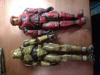 two red and brown Halo character robots action fig