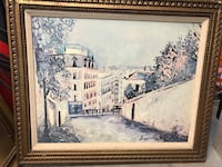 Painting of empty road in between of buildings wit Brewster, 10509