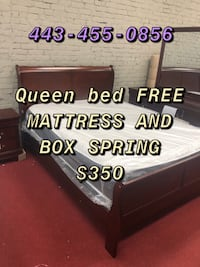 Queen mattress bed