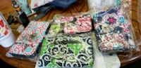 black, green, and white floral tote bag Calhoun, 30701