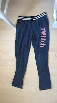 space farge svart og rosa Abercrombie & Fitch sweatpants 6235 km