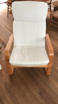 White wooden framed white padded armchair Linthicum Heights, 21090