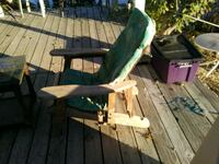 Wooden deck chair and end table Louisiana