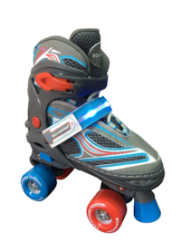 NEW Schwinn LED Kids Quad Skate - Size 1-4 Silver Spring