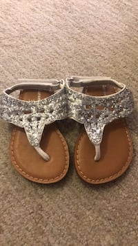 Silver Sparkly Sandals. Size 3 Gently Used.  Waldorf, 20601