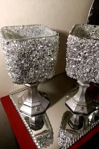 Crushed glass candle holder Newport News, 23601