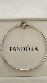 Authentic Pandora Star Pave Clasp Bangle