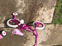 toddler's pink and white bicycle with training wheels Pontiac, 48340