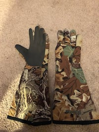 Camouflage hunting/camping gloves
